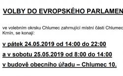 Informace o konání voleb do Evropského parlamentu